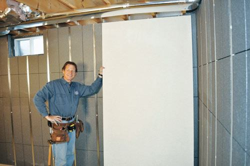 Insulated Wall Panels For The Basement Rigid Foam