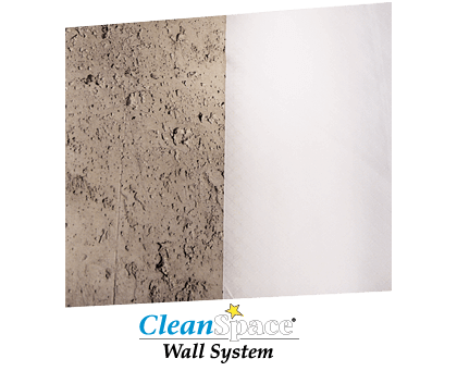 CleanSpace® Basement Wall Cover