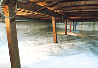 Crawl space sealed with CleanSpace® System
