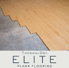 ThermalDry Elite Plank Flooring offers moisture resistance and durability while providing the warmth and beauty of a real wood plank floor.