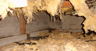 Batts are bad in a crawl space.