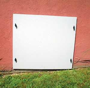 EverLast™ door covering crawl space opening