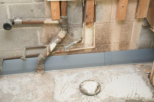 Drytrak basement drainage system for monolithic foundations for How to waterproof interior basement walls
