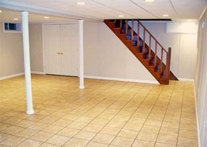 A finished basement