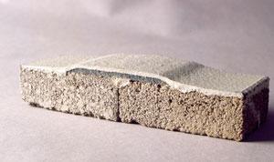 Basement wall crack sealed with FlexiSpan®