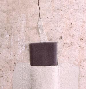 Leaking basement wall crack repair