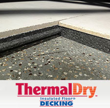 ThermalDry® insulated basement subfloor product