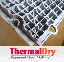 ThermalDry® basement subfloor product