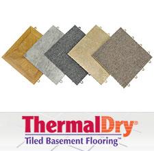 ThermalDry® basement floor tiles
