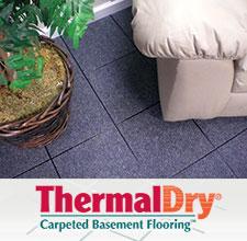 ThermalDry® basement carpet tiles