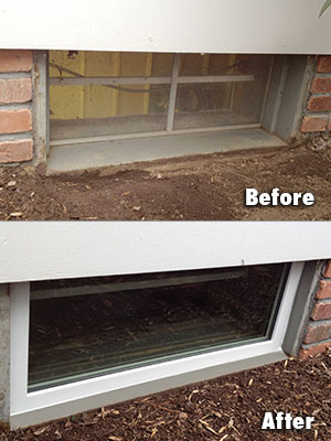 EverLast™ Basement Window Installation Before & After