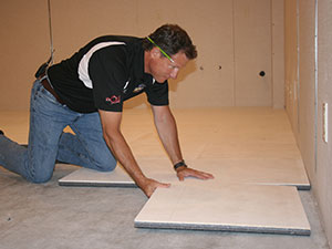 thermaldry insulated floor decking basement subfloor system
