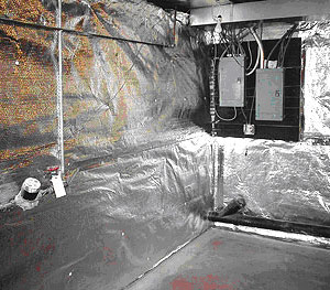 Thermaldry basement wall insulation basement systems for Basement insulation wrap