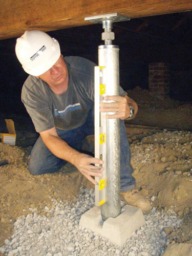 Jack Posts Permanent : Smartjack™ crawl space stabilizer adjustable floor joist