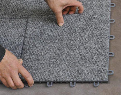 Thermaldry basement flooring system basement systems - Basement tile floor ideas ...