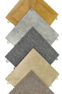 Finished basement floor tiles
