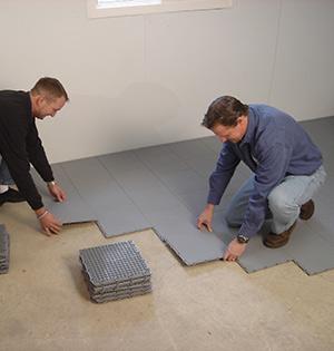 ThermalDry® Floor Matting being installed