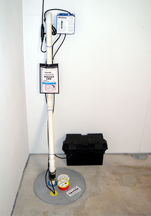 UltraSump battery backup sump pump system