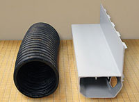 Comparison of drain tile and the WaterGuard® drain