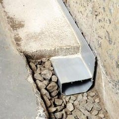 drainage channel waterguard drainage tile sump pump install finish
