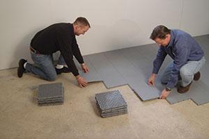 Basement floor matting