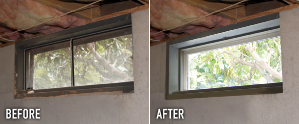 Basement windows everlast replacement basement windows for Basement window replacement